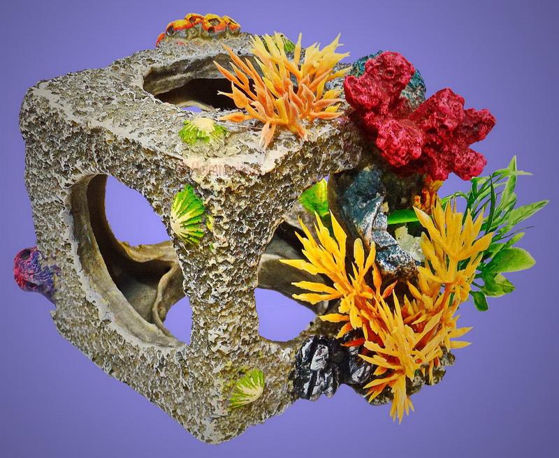 aquarium deko korallen w rfel zubeh r riff terrarium fische barsche ebay. Black Bedroom Furniture Sets. Home Design Ideas