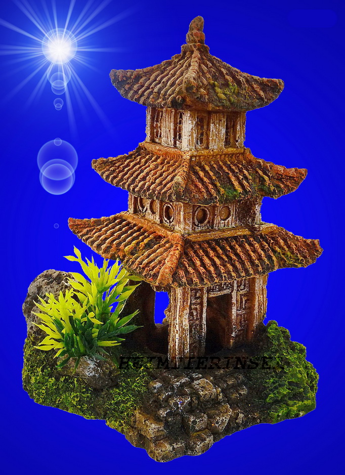 aquarium deko pagoden japan haus tempel terrarium dekoration zubeh r h hle. Black Bedroom Furniture Sets. Home Design Ideas
