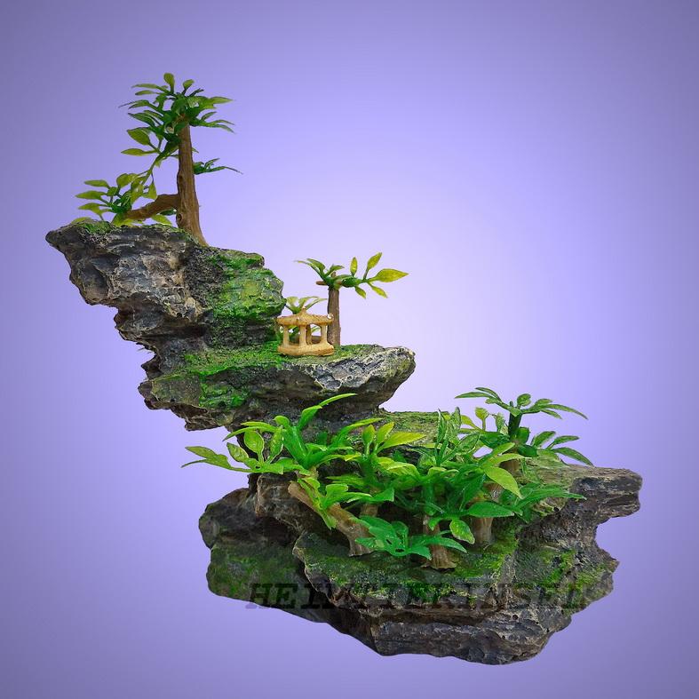 aquarium deko stufen grotte stein fische terrarium dekoration zubeh r. Black Bedroom Furniture Sets. Home Design Ideas