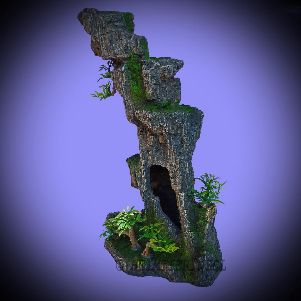 aquarium deko hoher grotten felsen f r barsche welse terrarium zubeh r ebay. Black Bedroom Furniture Sets. Home Design Ideas